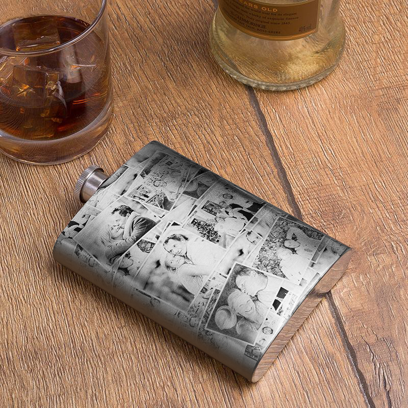 Personalized photo Custom Hip Flask